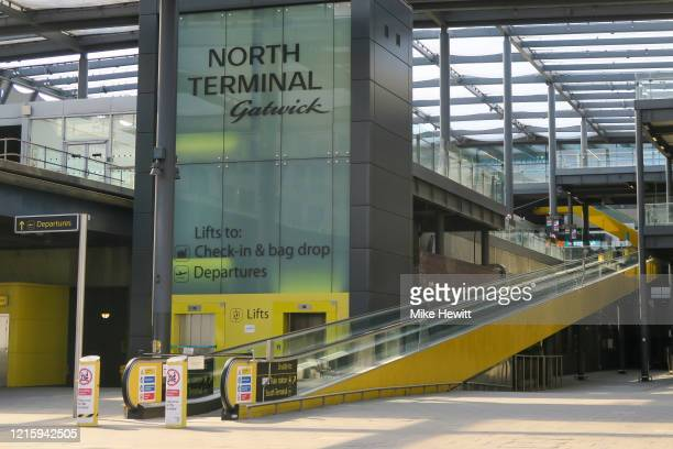 Scheduled to close on April 01, the Gatwick North terminal appears deserted on March 31, 2020 in Gatwick, England. The Coronavirus pandemic has...