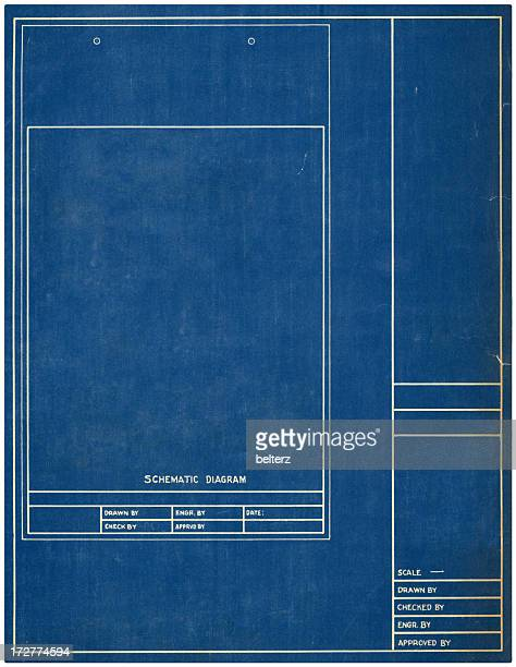 Blueprint paper stock photos and pictures getty images schematic malvernweather Gallery