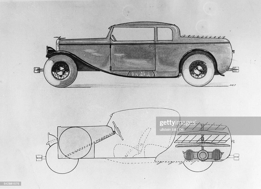 Autos - schematische Darstellung eines Propeller-Autos Pictures ...