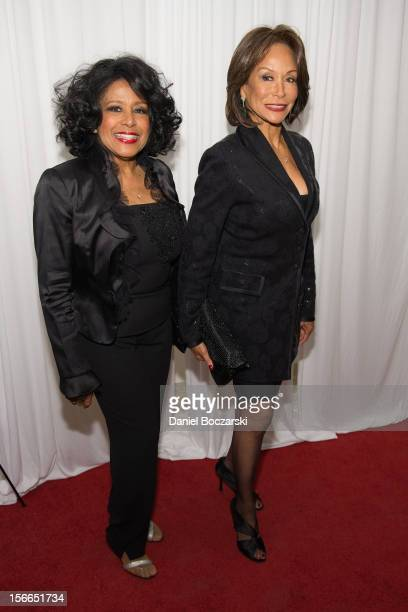 Scherrie Payne and Freda Payne attend An Evening with Berry Gordy at the Art Institute Of Chicago on November 17 2012 in Chicago Illinois
