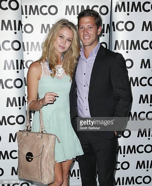 ScherriLee Biggs and Lachlan Smith attend the MIMCO show during L'Oreal Melbourne Fashion Festival on March 20 2013 in Melbourne Australia