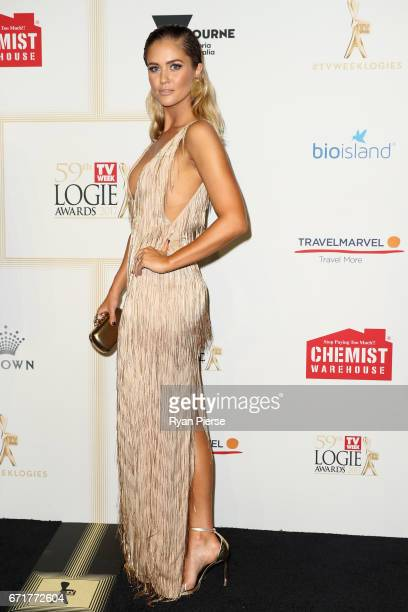 ScherriLee Biggs arrives at the 59th Annual Logie Awards at Crown Palladium on April 23 2017 in Melbourne Australia
