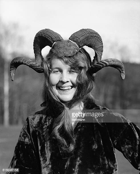 Scheuer of Scranton Pennsylvania as she took the part of general Billy Goat legs at the may Pageant at Mt Holyoke College Mass Where she is a student