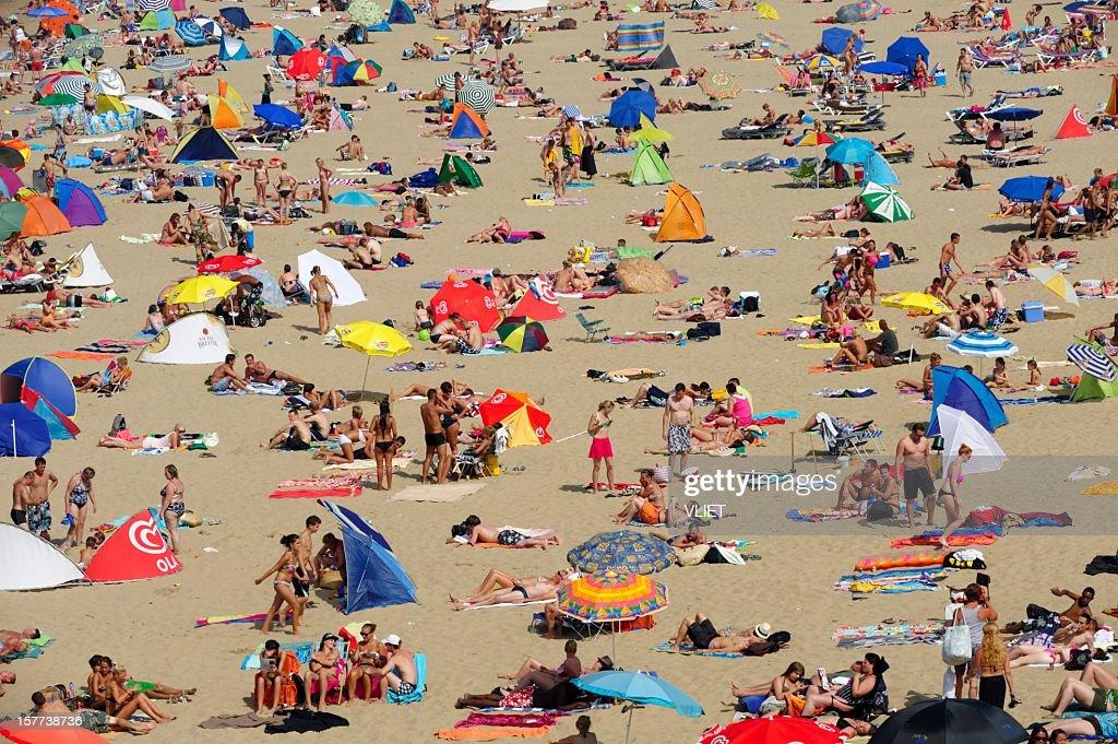 Scheveningen beach resort in the Netherlands : Stock Photo