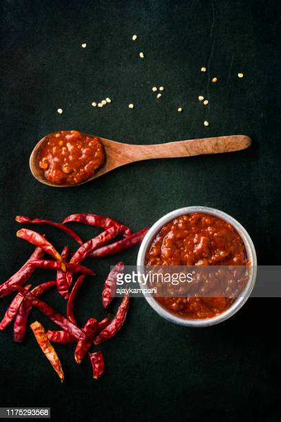 schezwan sauce - chutney stock pictures, royalty-free photos & images