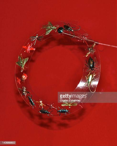 """Schiaparelli insect necklace on display at the """"Schiaparelli and Prada: Impossible Conversations"""" Costume Institute exhibition press preview at The..."""