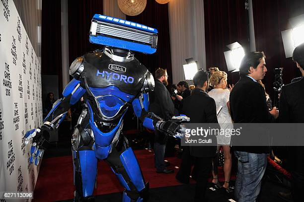 Schick Hydro's superhero, Hydrobot, helped rescue fans from shaving irritation at The Game Awards in Los Angeles on December 1, 2016.