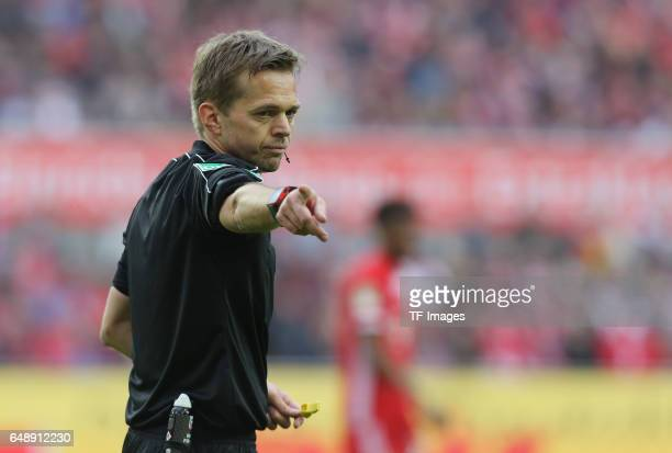 Schiedsrichter Jochen Drees gestures during the Bundesliga match between 1 FC Koeln and Bayern Muenchen at RheinEnergieStadion on March 4 2017 in...