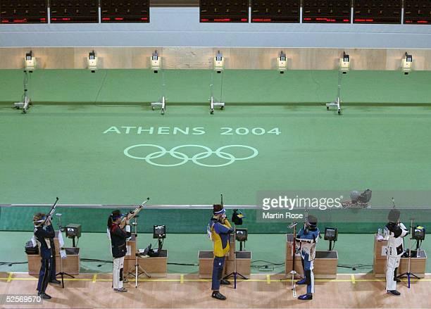 Schiessen Olympische Spiele Athen 2004 Athen Luftgewehr 10m / Frauen Finale spezial 140804