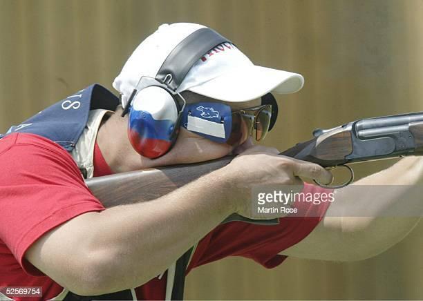 Schiessen Olympische Spiele Athen 2004 Athen Trap / Maenner Finale Alexei ALIPOV / RUS / Gold 150804