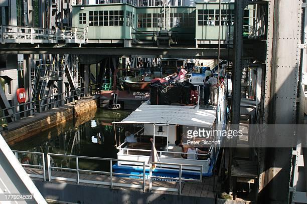 Schiffshebewerk Niederfinow Brandenburg Deutschland Europa Industriedenkmal technisches Denkmal Historisches Wahrzeichen der Ingenieurbaukunst in...