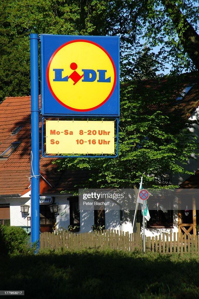"Schild ""Lidl"", Worpswede (bei B R E M E N), Teufelsmoor, Nieders : News Photo"