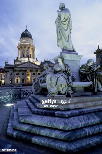 schiller memorial and deutscher dom - deutscher dom stock pictures, royalty-free photos & images