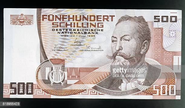 500 Schilling Banknote Obverse Otto Wagner Austria 20th Century