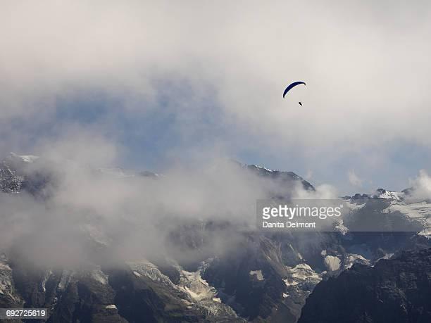 Schilthorn mountain and paraglider, Schilthorn, Bern Canton, Switzerland