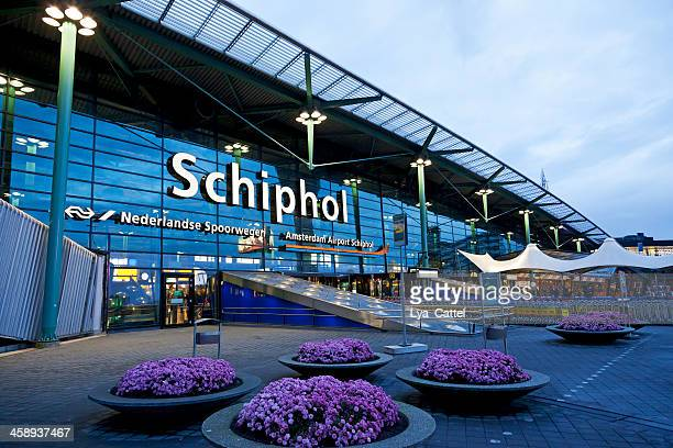 schiphol airport editorial # 3 xxxl - entrance sign stock photos and pictures