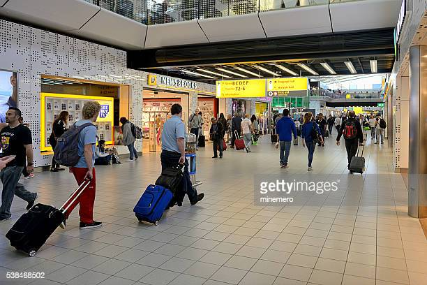 schiphol plaza in amsterdam - schiphol airport stock photos and pictures