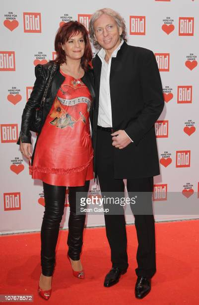 Schlager singer Andrea Berg and her husband Uli Ferber attend the 'Ein Herz Fuer Kinder' charity gala at Axel Springer Haus on December 18 2010 in...