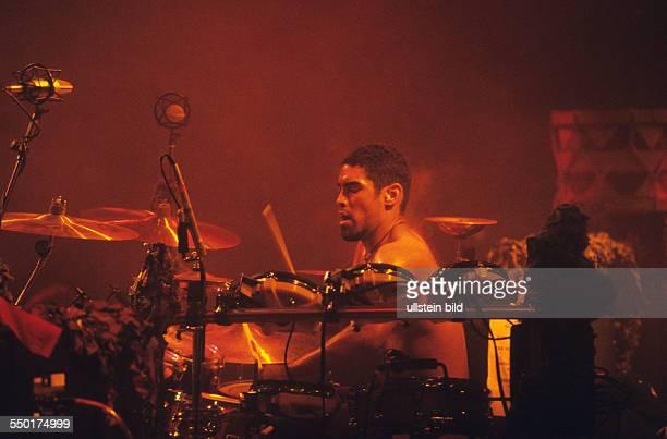 Schlagzeuger Joe Nunez während des WithFullForceFestivals in Roitzschjora