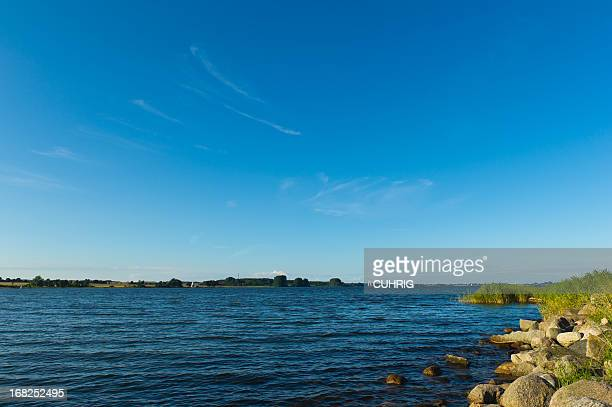 Schlei Panorama with shoreline