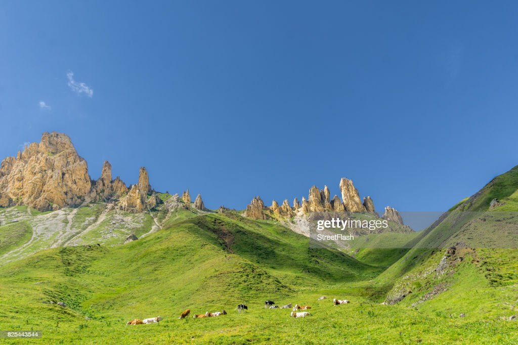 Schlern mountain landscape in South Tyrol : Stock Photo