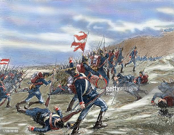 SchleswigHolstein Question The First Schleswig War or Three Years' War Fighting between the Danes and Prussians at the Battle at Kolding on April 23...