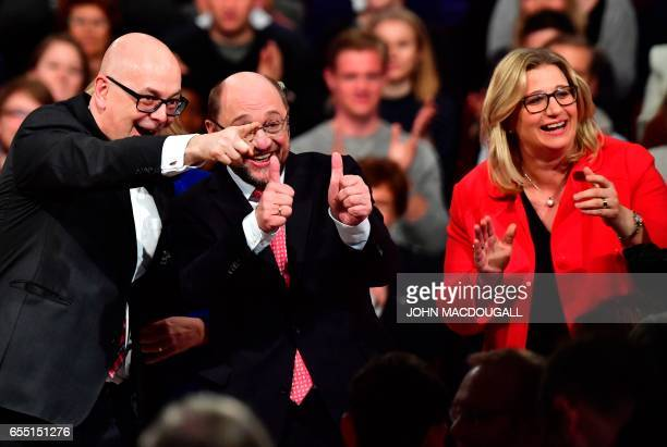 SchleswigHolstein State Premier Torsten Albig the candidate for Chancellor of Germany's social democratic SPD party Martin Schulz and SPD top...