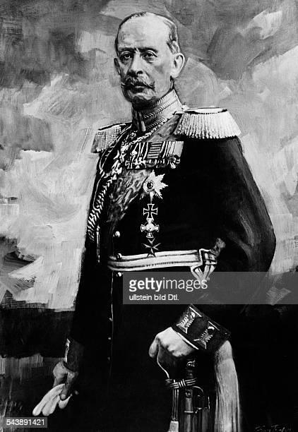 Schlieffen Alfred von Officer Field Marshal General Germany*28021833 Portrait painted Franz Triebsch undated Photographer PresseIllustrationen...