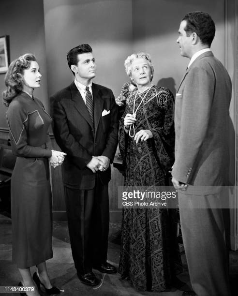 Schlitz Playhouse of Stars a CBS television dramatic anthology Production of episode The Great Lady Originally broadcast March 5 1954Left to right...