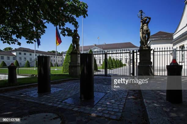 schloss bellevue gate (bellevue castle) - berlin, germany - bellevue skyline stock pictures, royalty-free photos & images