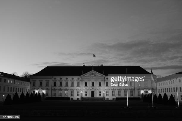 Schloss Bellevue presidential palace stands at twilight following the departure of Martin Schulz, Chairman of the German Social Democrats , who had...