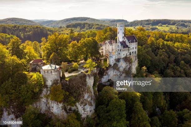 Schloss Lichtenstein Aerial View Castle Lichtenstein Swabian Alb