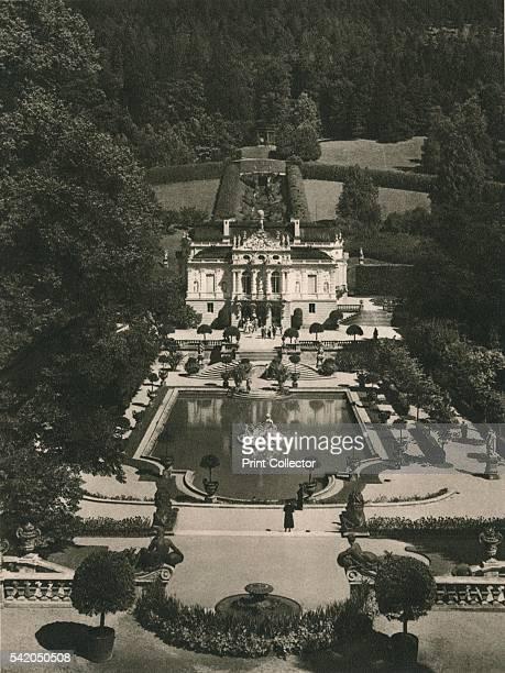 Schloss Linderhof' 1931 From Deutschland by Kurt Hielscher [F A Brockhaus Leipzig 1931] Artist Kurt Hielscher