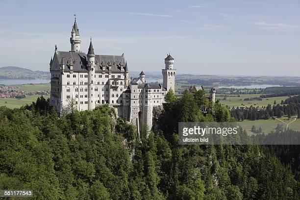 Schloss Neuschwanstein im Ortsteil Hohenschwangau der Gemeinde Schwangau bei Füssen in Bayern