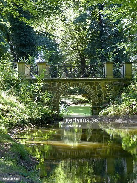 Schlosspark Steinhoefel 40 ha grosser Landschaftspark in Steinhoefel Region Fuerstenwalde im Odervorland im Land Brandenburg