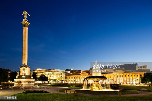 schlossplatz at dusk - castle square stock pictures, royalty-free photos & images