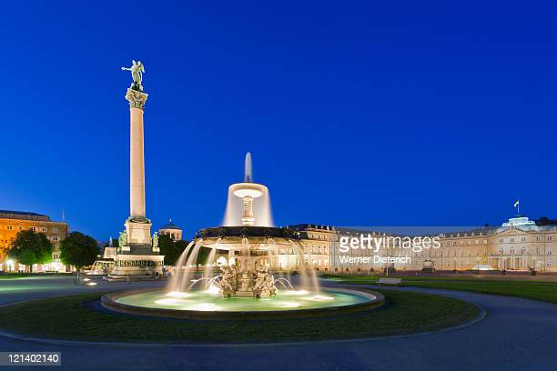 schlossplatz square in stuttgart, germany - castle square stock pictures, royalty-free photos & images