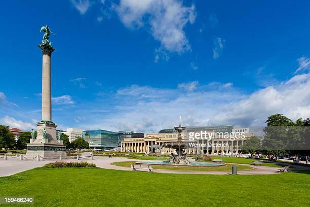 Schlossplatz Square in Stuttgart, Germany