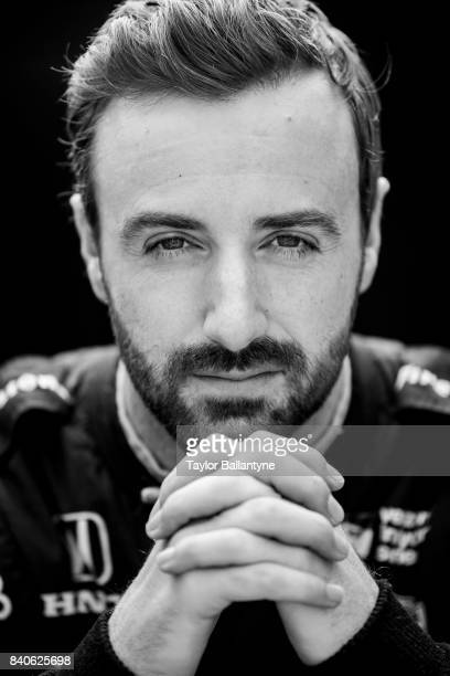 Schmidt Peterson Motorsports driver James Hinchcliffe is photographed for Sports Illustrated on August 20 2017 at Pocono Raceway Verizon IndyCar...