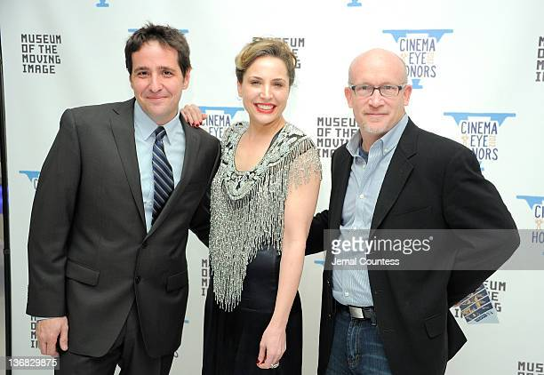 Schnack Esther Robinson and Alex Gibney attend the 5th Annual Cinema Eye Honors for Nonfiction Filmmaking at the Museum of the Moving Image on...