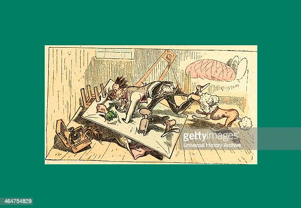 Schnaken And Schnurren Mosquitoes And Purring Wilhelm Busch 1832 1908 German Artist Humorist Poet Illustrator And Painter A Humorous Story In...