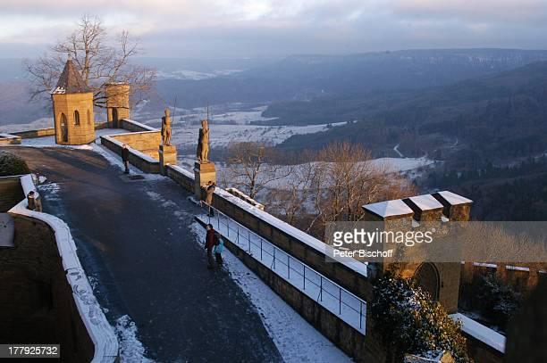Schnarrwachtbastei Burg 'Hohenzollern' Bisingen BadenWürrtemberg Deutschland Europa Denkmal Sehenswürdigkeit touristische Attraktion Architektur...