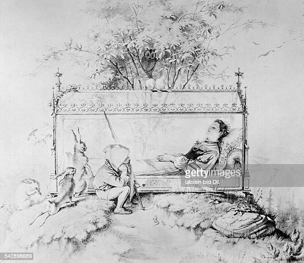Schneewittchen im SargMärchenillustration von A Henschel