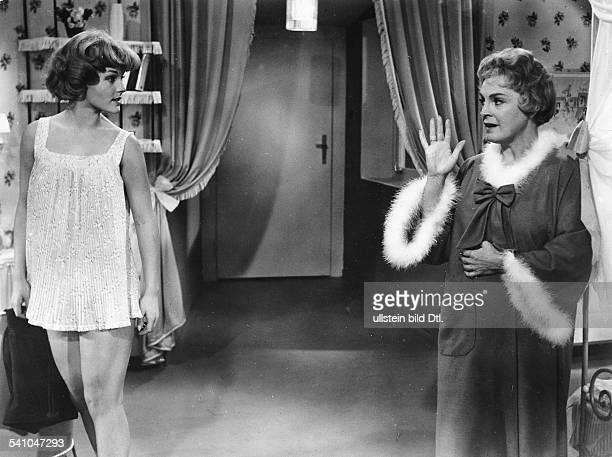 Schneider, Romy - Actress, Germany - *-+ Scene from the movie 'Die Halbzarte' - with Magda Schneider Directed by: Rolf Thiele Austria 1958 Vintage...
