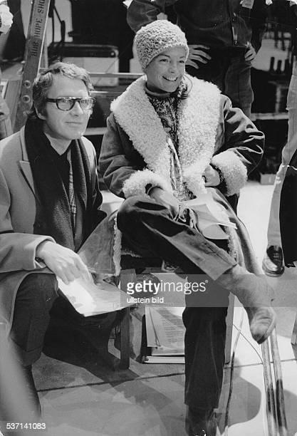 Schneider Romy Schauspielerin D mit Ehemann Harry Meyen 1969