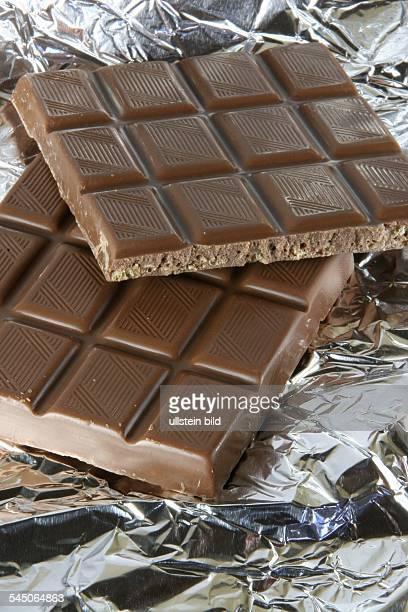 Schokolade auf Staniolpapier