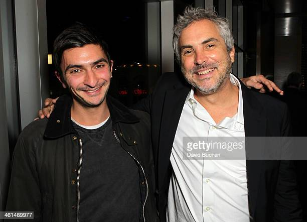 BAFTA 2013 Scholarship winner Ameil Karia and Director Alfonso Cuaron attend the BAFTA LA Behind Closed Doors With Alfonso Cuaron at the Landmark...