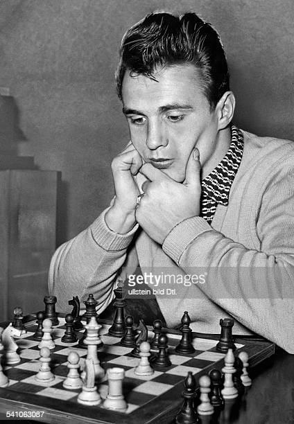 Scholz Gustav 'Bubi' *Boxer D am Schachbrett 1954