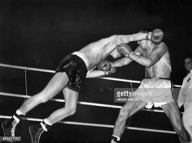 Scholz Gustav 'Bubi' *Boxer D BoxEuropameisterschaft in Berlin Kampf gegen Hans Werner Wohlers in der Deutschlandhalle