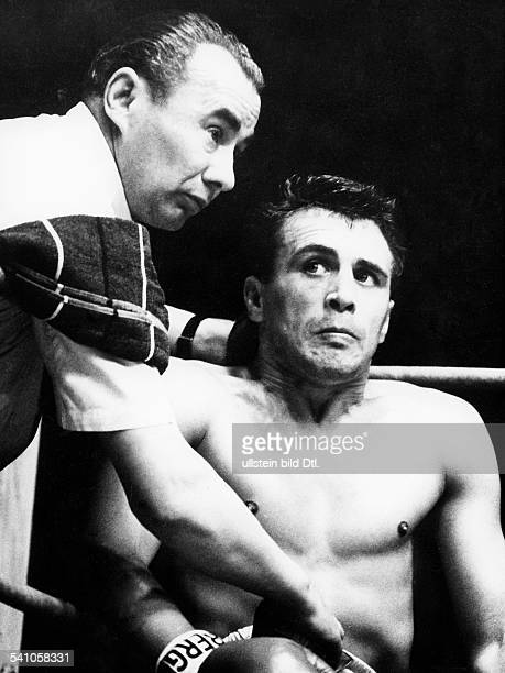 Scholz Gustav 'Bubi' *Boxer D mit Trainer Lado Taubeneck 1959